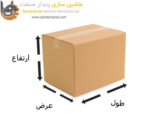 طول و عرض و ارتفاع یک بسته